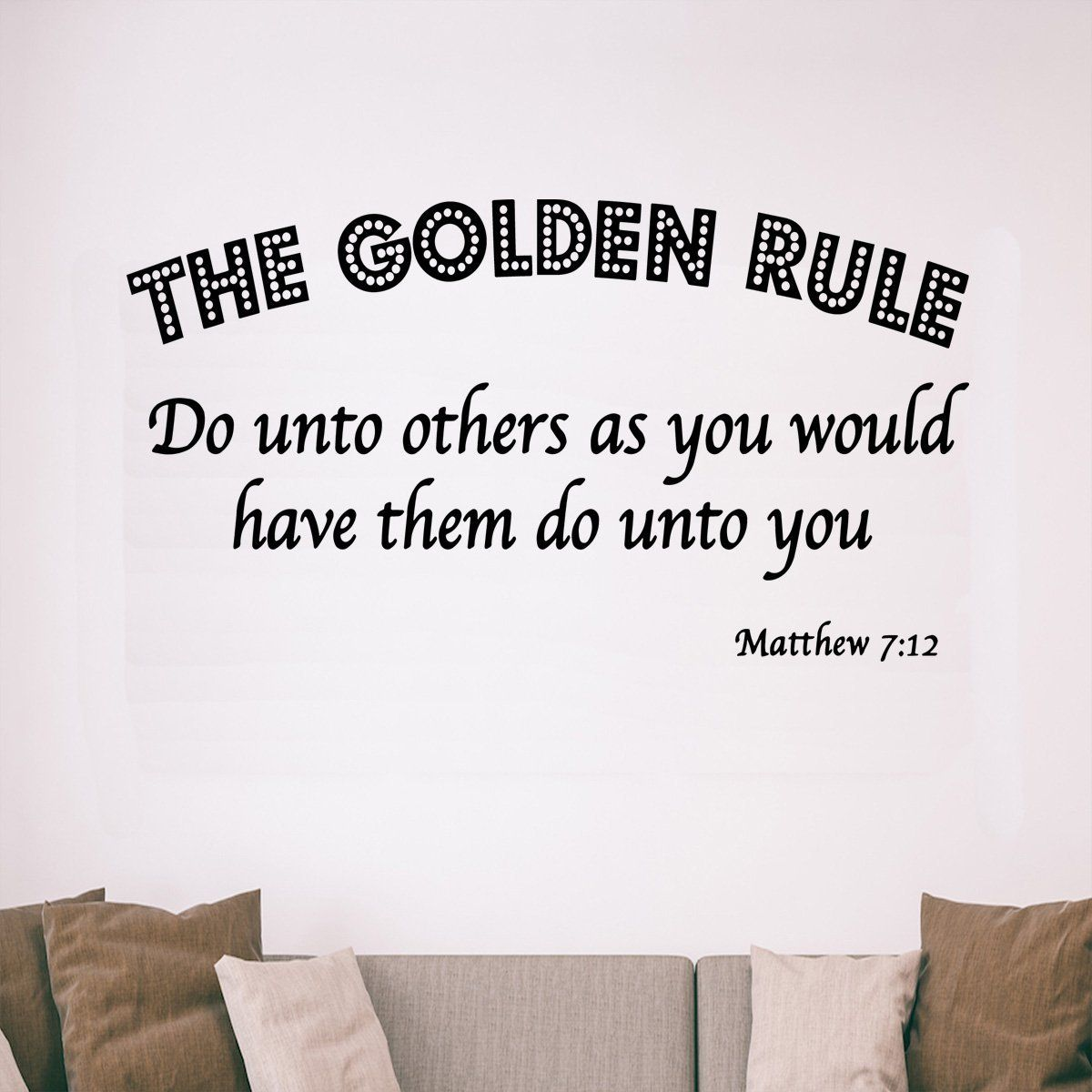 Vwaq The Golden Rule Do Unto Others Matthew 7 12 Bible Vinyl Wall Decal Do Unto Others Golden Rule Vinyl Wall Art Quotes