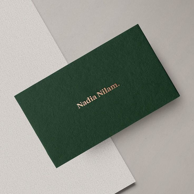 Modern Stationery Business Card With Golden Letterpress