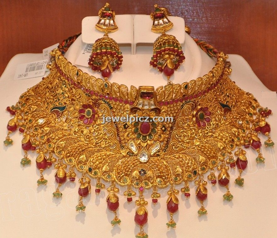 Khazana jewellers Bridal gold choker necklace designs ~ Latest ...