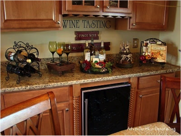 Wine Decor For Kitchen Decorating Your Kitchen With A Wine
