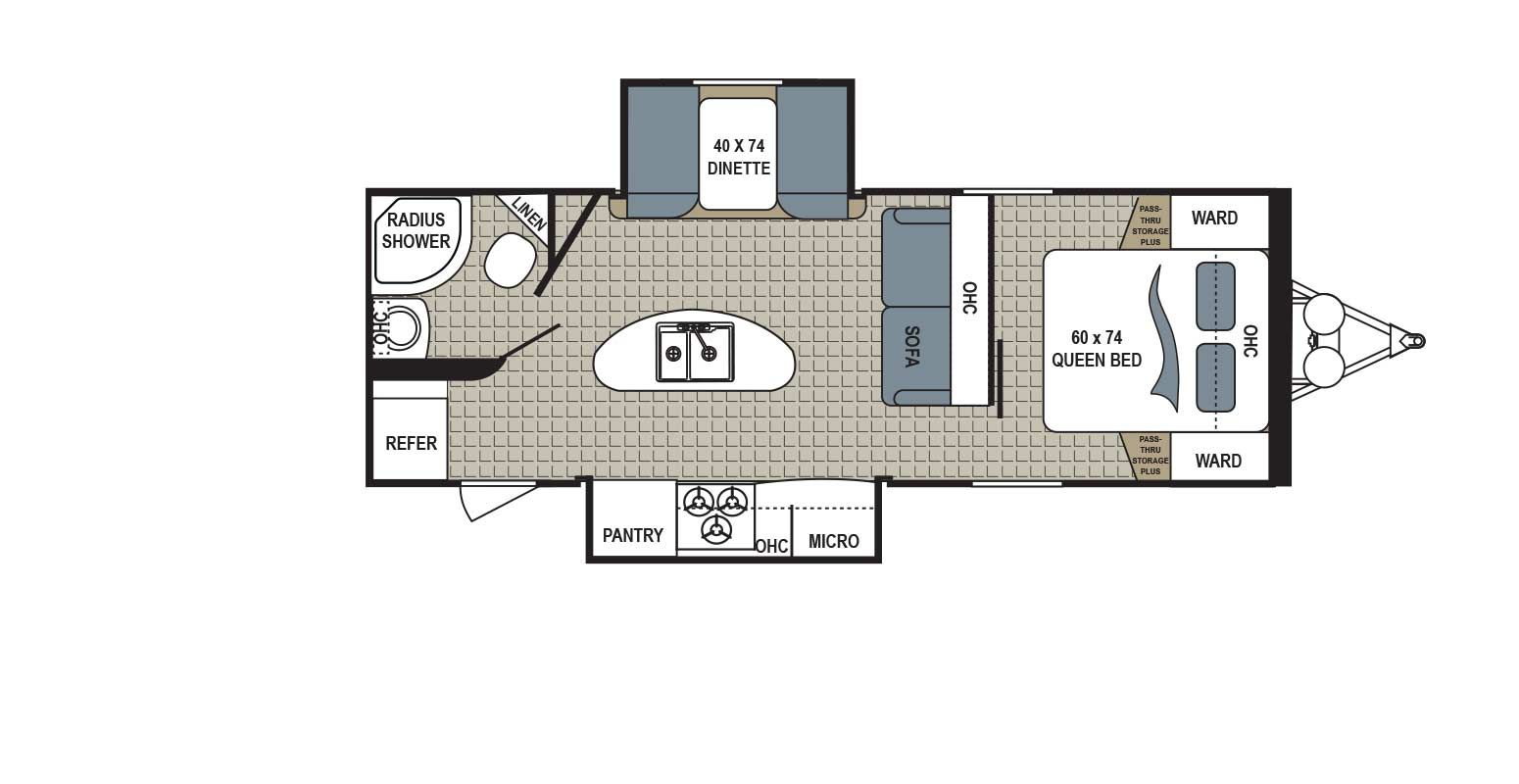2018 Kodiak Travel Trailers Floor Plans Kodiak 253rbsl Floorplans Detail Camping Tips Dutchmen
