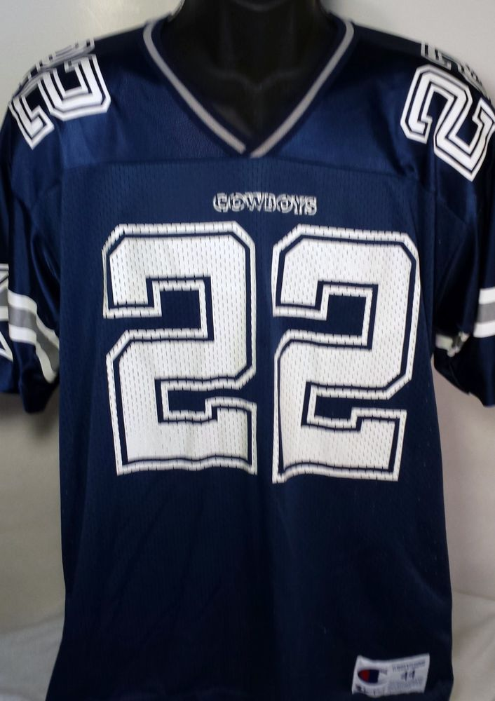 66726419494 Vintage Dallas Cowboys Emmit Smith Mens Size 44 Champion Jersey #Champion # DallasCowboys