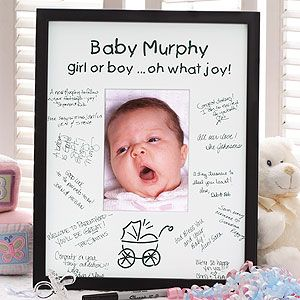 baby love personalized signature frame