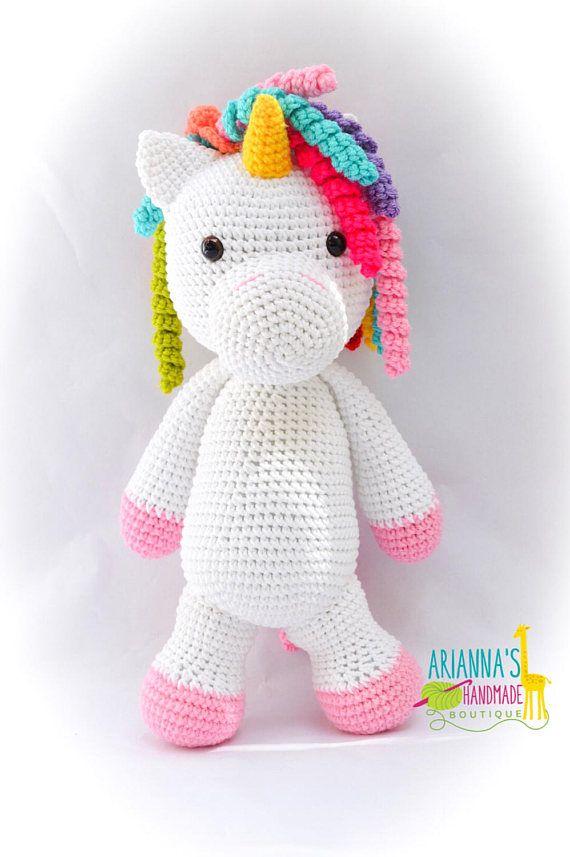 Unicorn toy / Staff Unicorn / Crochet Unicorn toy / Birthday ...