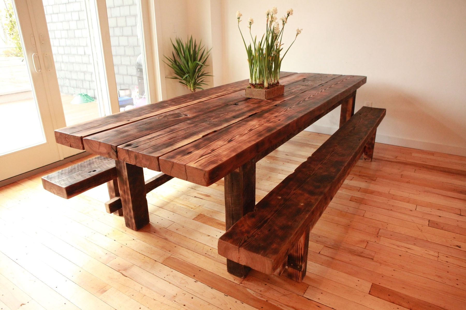 Thick Wooden Kitchen Tables Google Search Handmade Dining