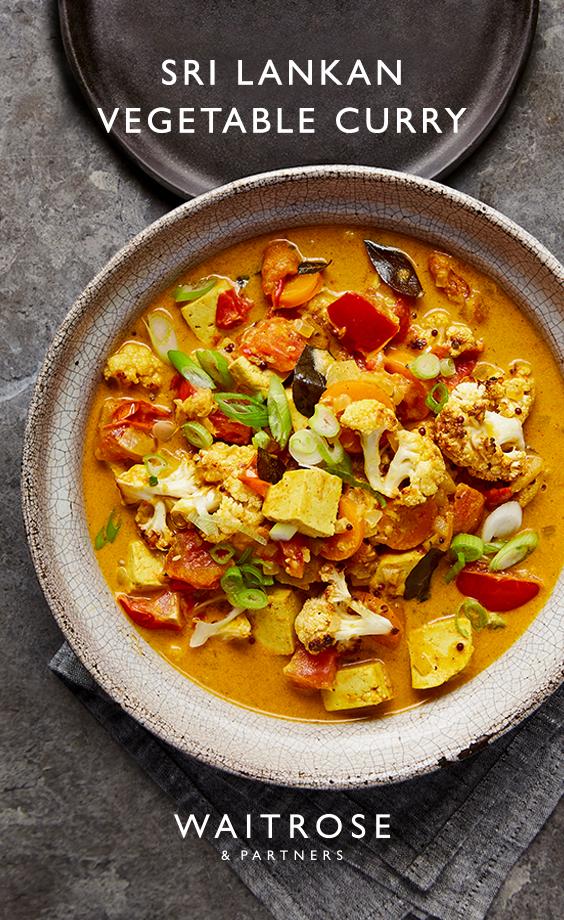Sri Lankan tofu vegetable curry