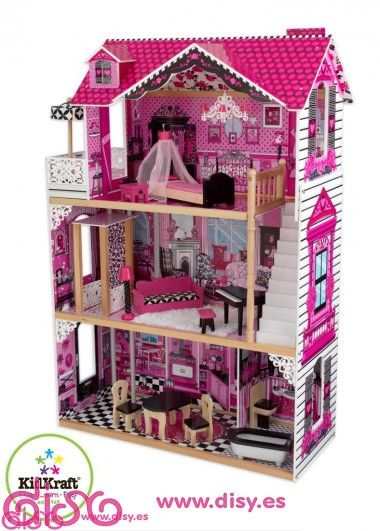 Kidfraft casa de mu ecas amelia 65093 ideal para jugar - Casa munecas eurekakids ...