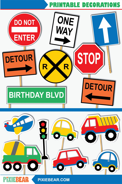 Transportation Cutouts Printable Transportation Birthday Etsy In 2021 Transportation Birthday Transportation Party Transportation Birthday Party