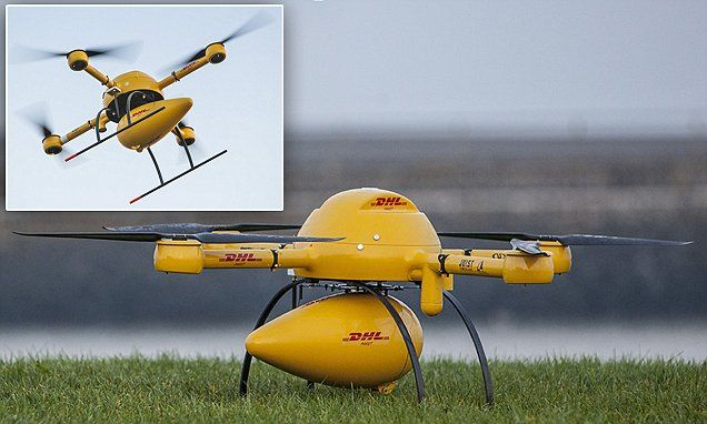 Dhl Tests Its Parcelcopter Service With Flight To German Island Island German Service