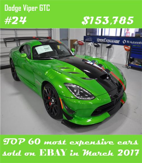 Top 60 Most Expensive Cars Sold On Ebay In