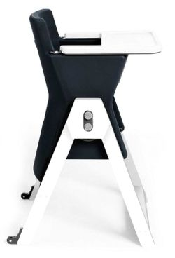 Age Design Hilo High Chair - Black Currant with White Beech Wood Legs $324.99 - from Well.ca