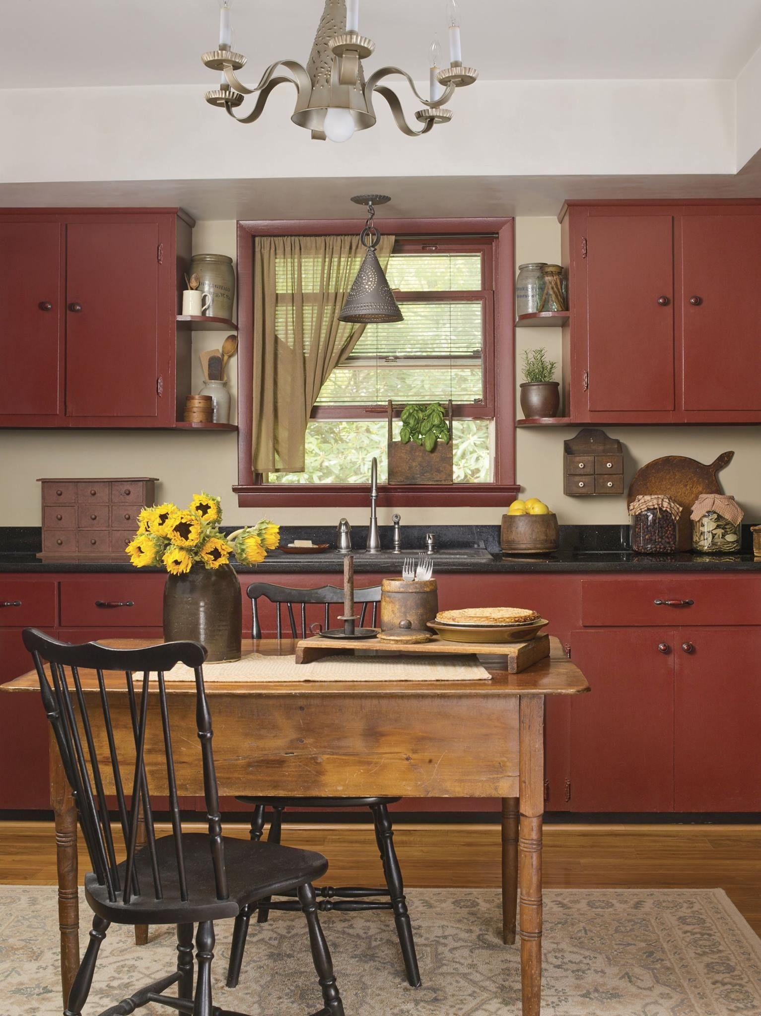 Country Sampler Kitchen remodel, Primitive kitchen, Home