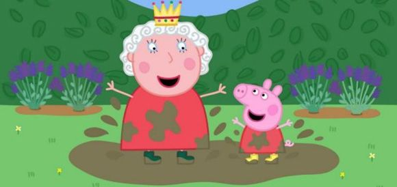 Peppa Pig Jumping In Muddy Puddles With The Queen So Good Peppa