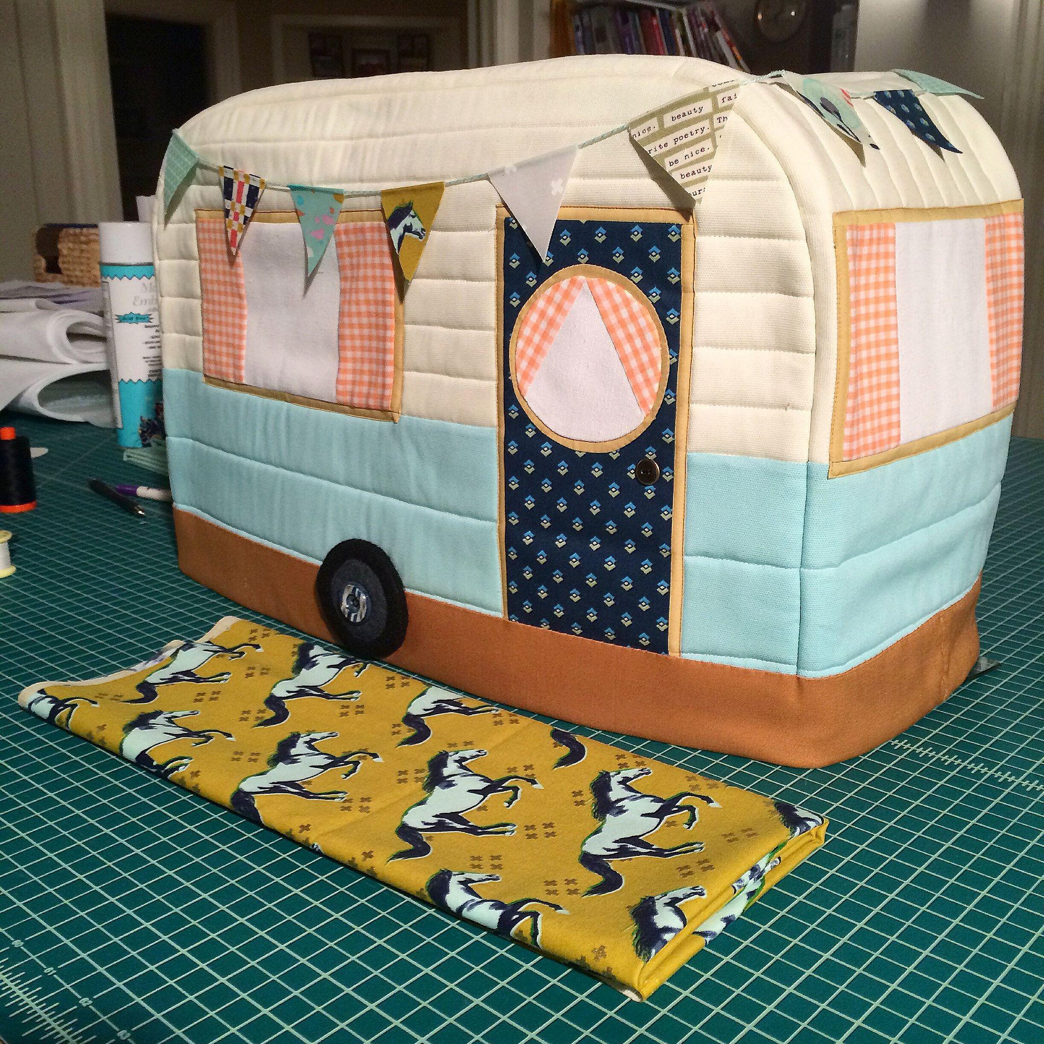 Retro Caravan Sewing Machine Cover – Ginger Peach Studio | DIY ...