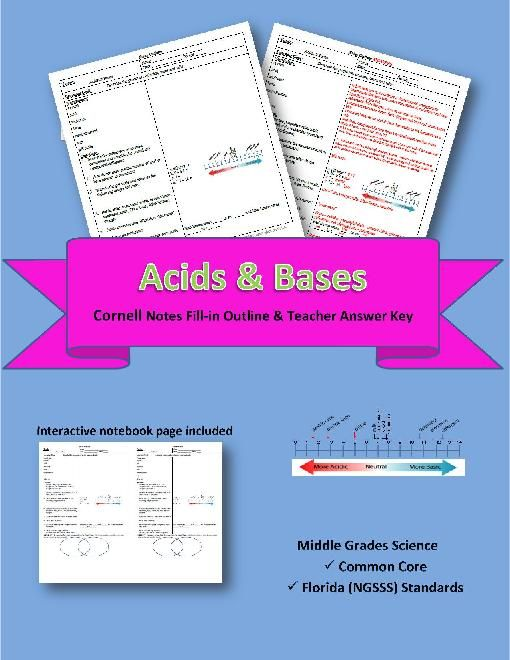Acids & Bases Cornell Notes 39   Cornell notes, Physical ...