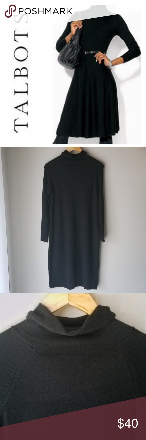 Talbots Black Sweater Turtleneck Dress Pure Merino Turtle Neck Dress Black Sweaters Black Sweater Dress [ 1740 x 580 Pixel ]