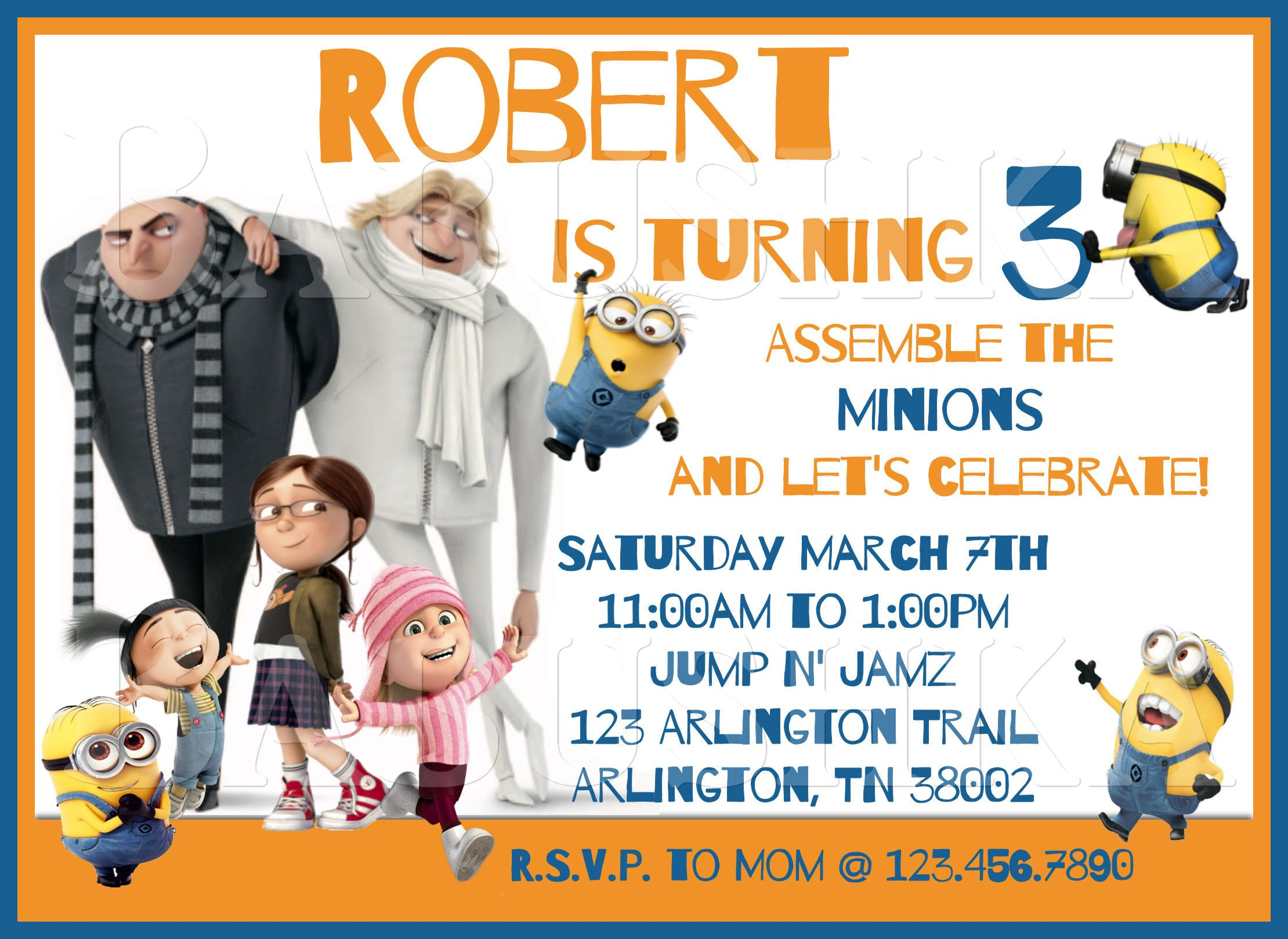 despicable me 3 birthday party invitation movie themed party