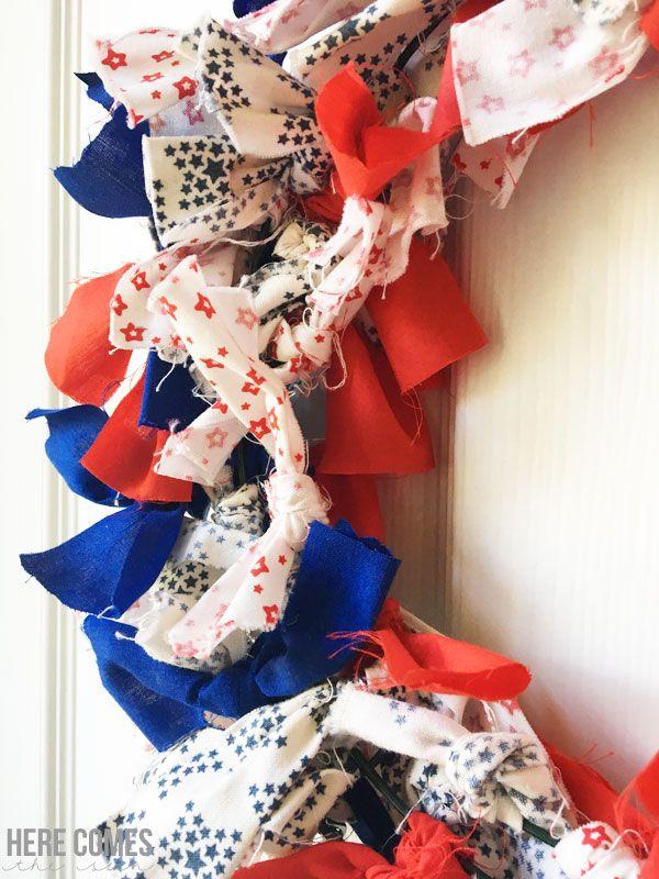 Photo of Patriotic Fabric Wreath