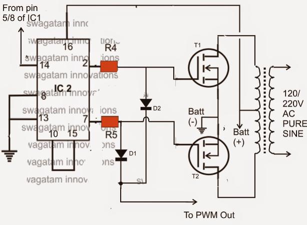 this ic 556 pure sine wave inverter circuit homemade circuit