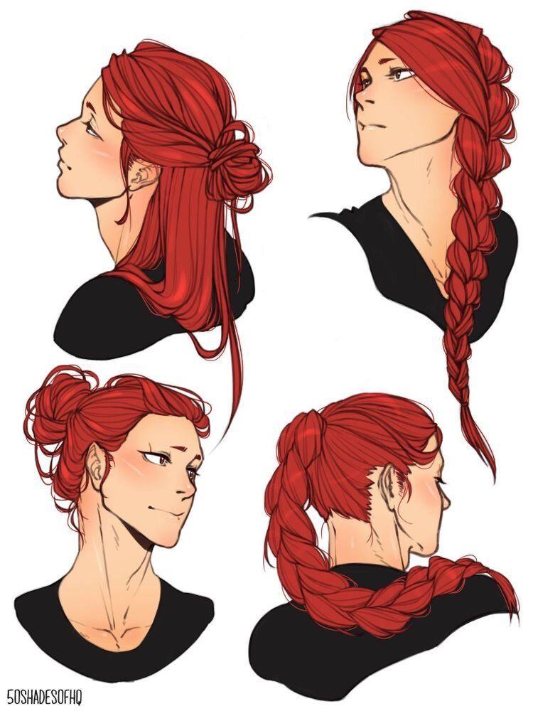 Kirishima With Long Hair Drawings How To Draw Hair Character Art