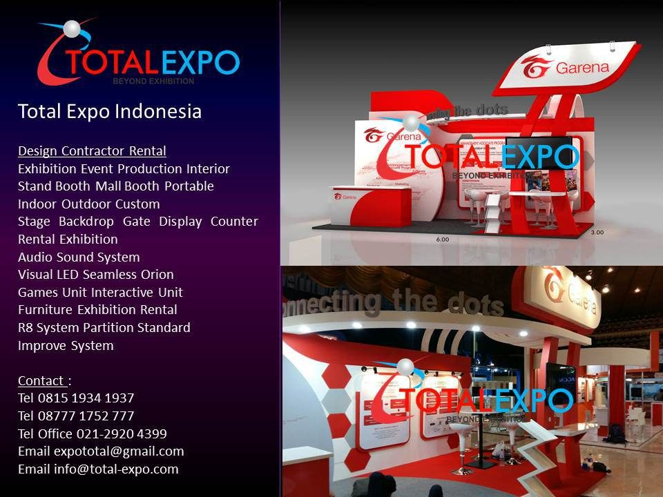 Custom Exhibition Stand Job : Stand booth pameran job fair garena design and build exhibition