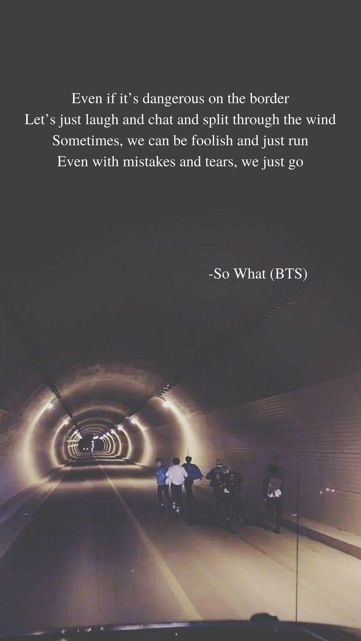 So What (BTS) lyrics wallpaper - #BTS #lyrics #wallpaper