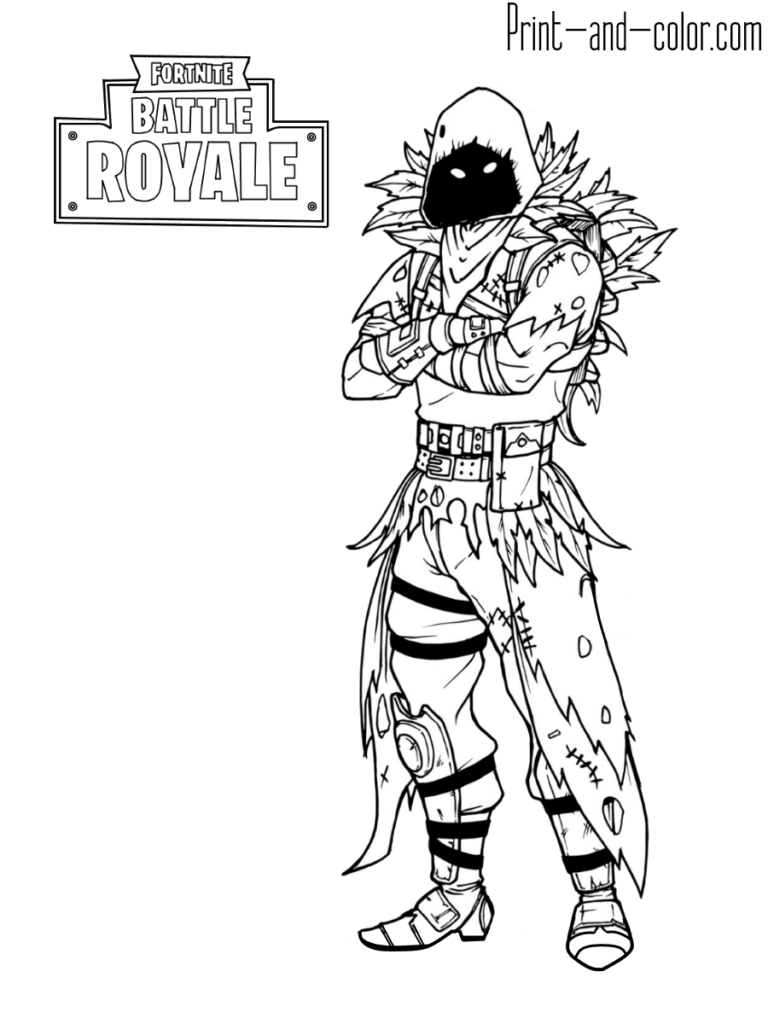 Fortnite Battle Royale Coloring Page Raven Have A Time To Relieve Stress And Have Fun With The Free Kids Coloring Pages Coloring Pages For Kids Colouring Pages