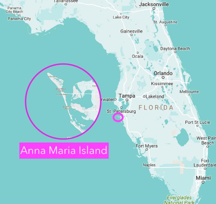 santa anna florida map Map Of Anna Maria Island Florida Anna Maria Island Anna Maria