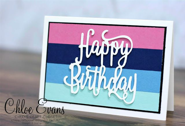 Chlo's Craft Closet - Stampin' Up! Independent Demonstrator: Kelly's Stamping Friends Blog Hop - Happy Birthday Gorgeous