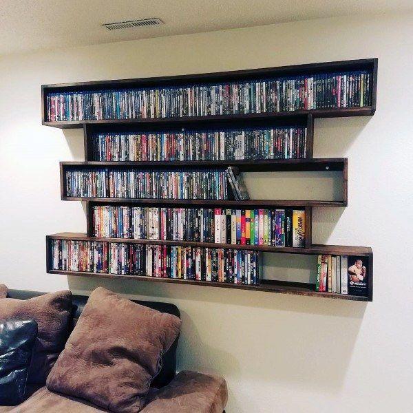 40 Dvd Storage Ideas Organized Movie Collection Designs Diy