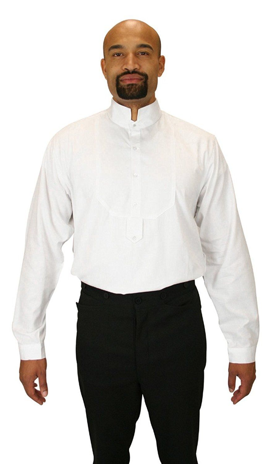 bb0c057fdbe4 Victorian Men's Shirts- Wingtip, Gambler, Bib, Collarless Historical  Emporium Mens Victorian Collar Dress Shirt $59.95 AT vintagedancer.com