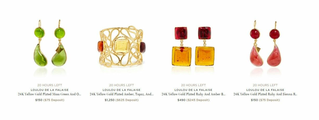 Lolou de la falaise glass paste jewelry