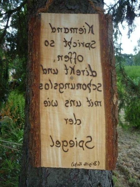 Holzschild spiegel schrift von holz kreativ auf dawanda - Spiegel auf holz kleben ...