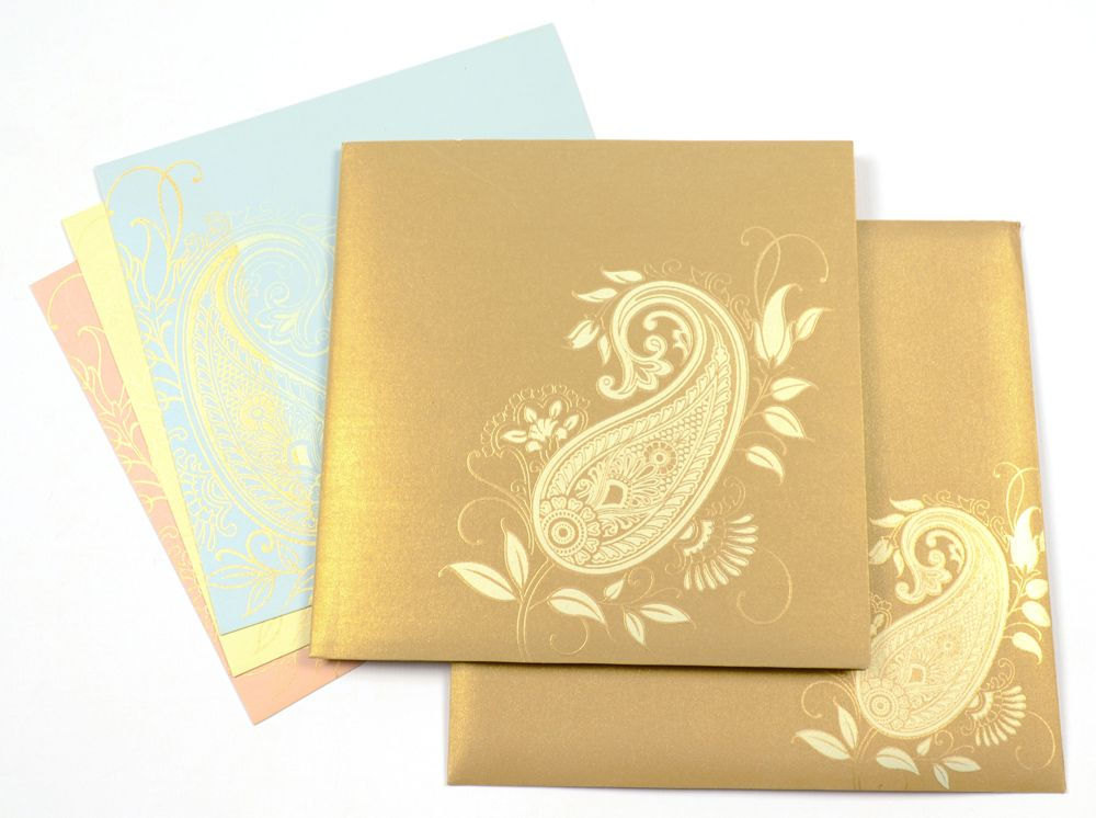 Indian Modern Wedding Card Design