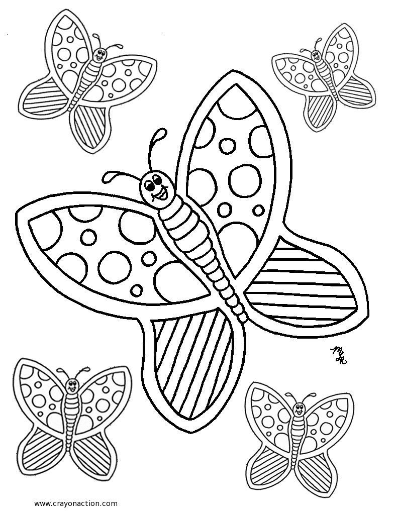 Coloring Pages Butterflies Picture Frozen Pdf Free