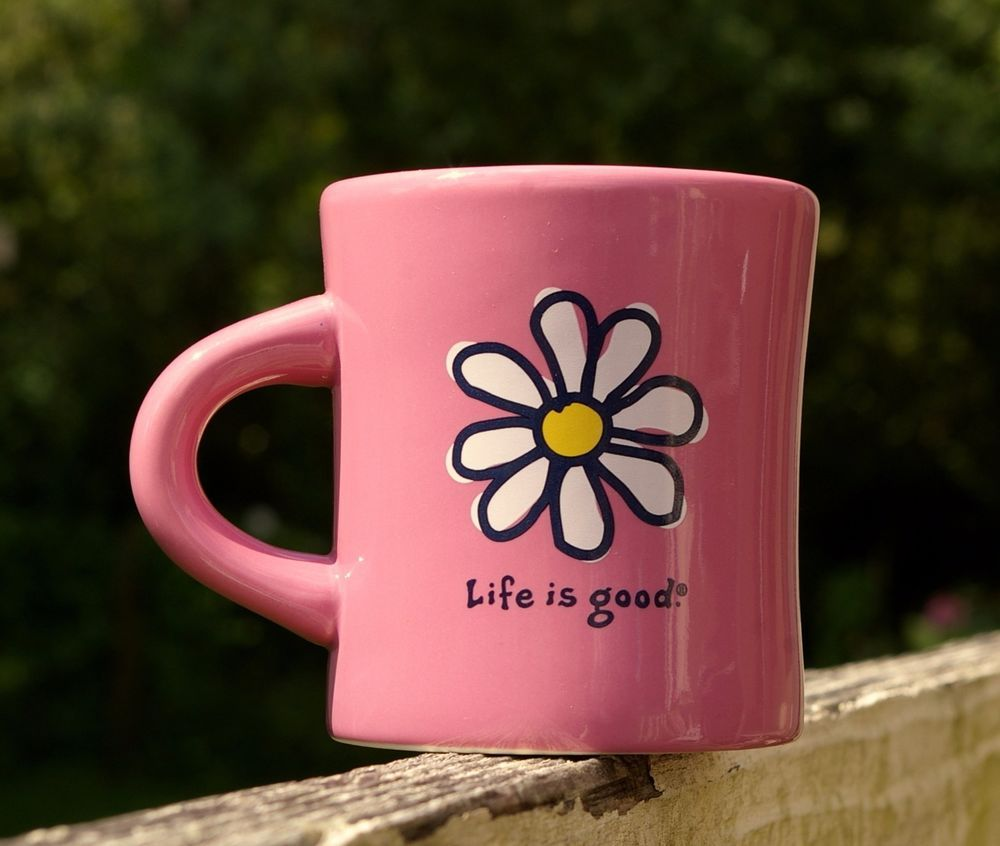 Life is good coffee mug pink daisy flower love do what you like life is good coffee mug pink daisy flower love do what you like like what you do dhlflorist Images