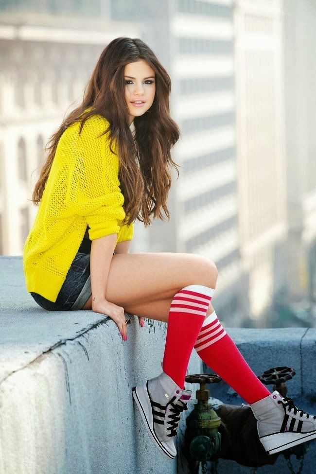 Selena Gomez Yellow Cardigan November 2017