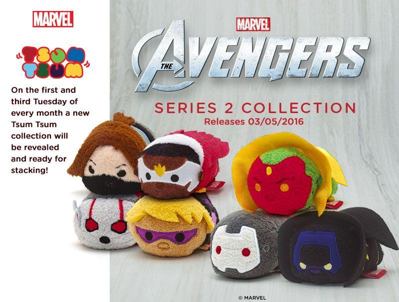 Marvel Avengers Tsum Tsum Mini Plush Stackable CHOOSE YOUR TSUM TSUM New w// Tag