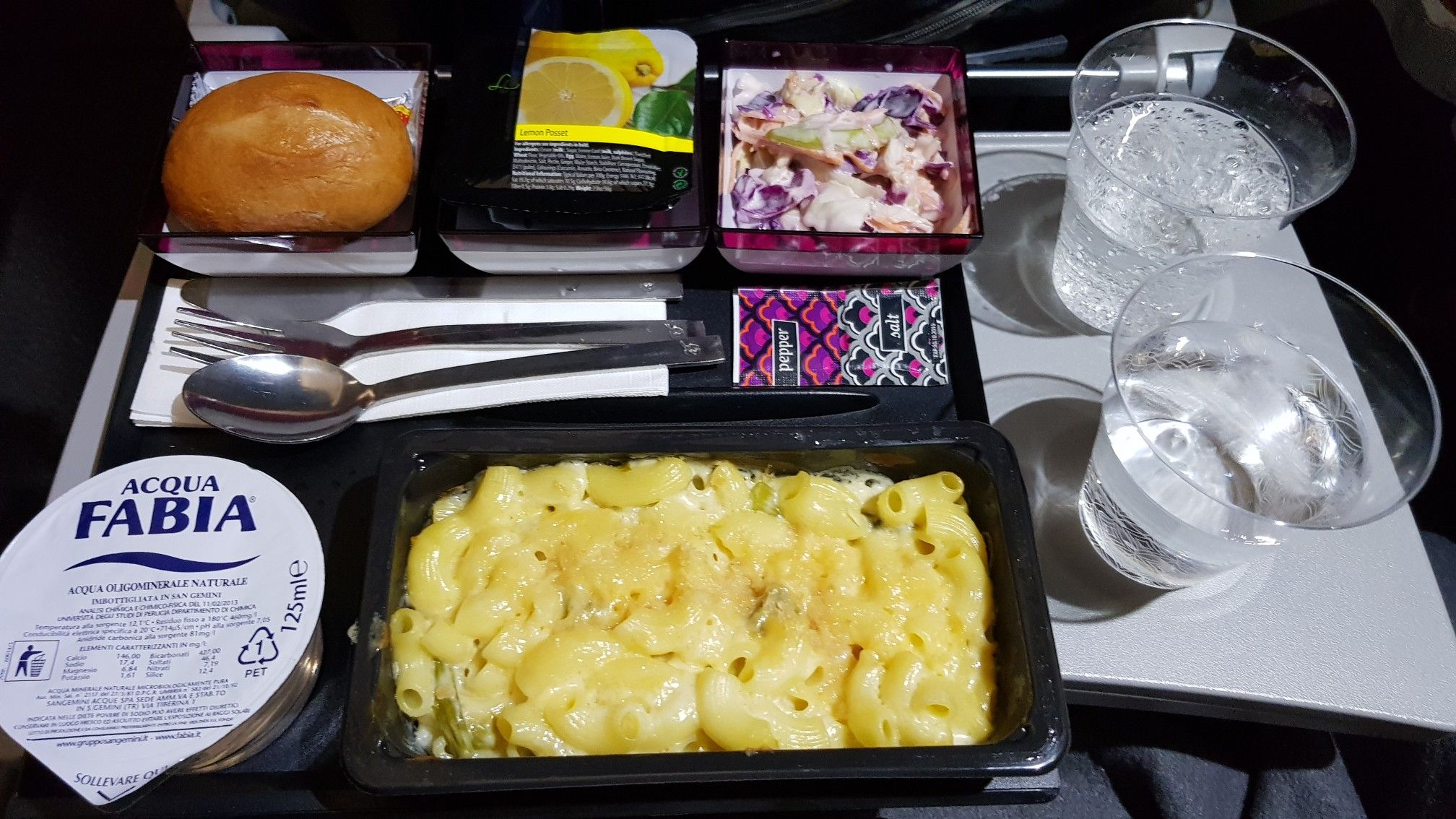 Qatar Airline Milan to Doha Airline food, Food