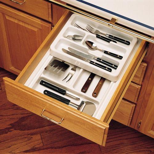 Rev A Shelf 12 Inch Full Top Cutlery Tray White Rt12 3f Kitchen Drawer Organizers Rev A Shelf