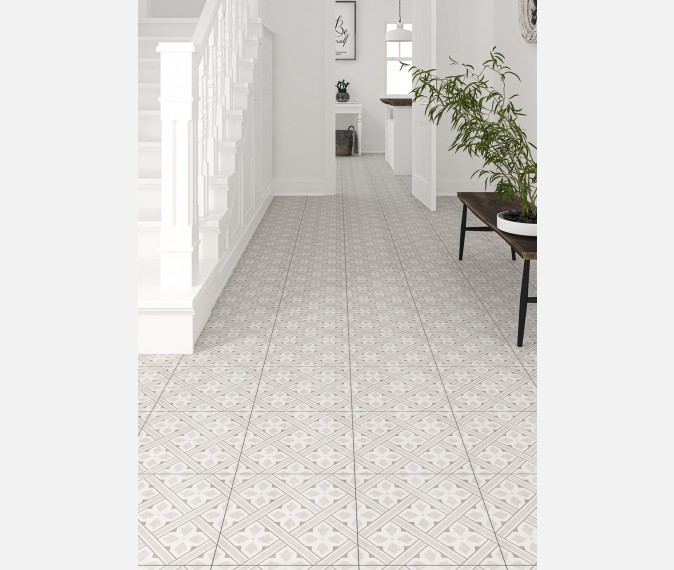 Mr Jones Cream Pattern Wall And Floor Tile In 2020 Hallway Flooring Patterned Floor Tiles Tile Floor