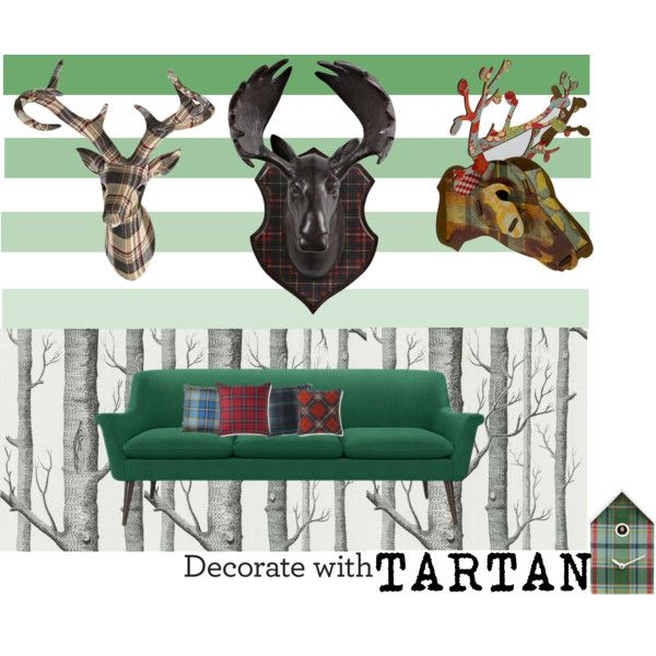Tartan by luzang on Polyvore featuring interior, interiors, interior design, maison, home decor, interior decorating, Murphy, MIHO, Williams-Sonoma and Ralph Lauren