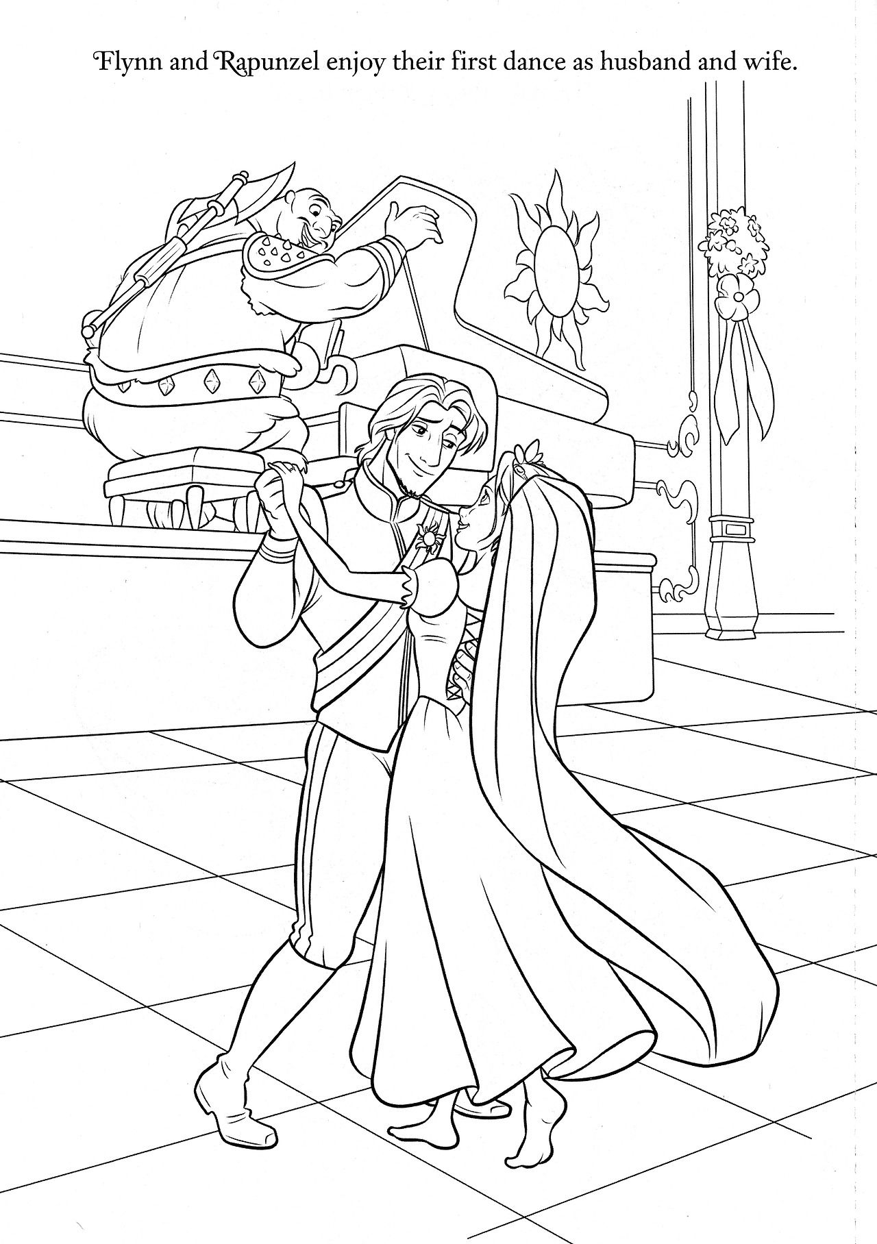 rapunzel wedding coloring papges princess rapunzel and flynn coloring pages disney coloring