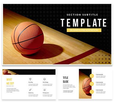 play basketball powerpoint template | imaginelayout, Modern powerpoint