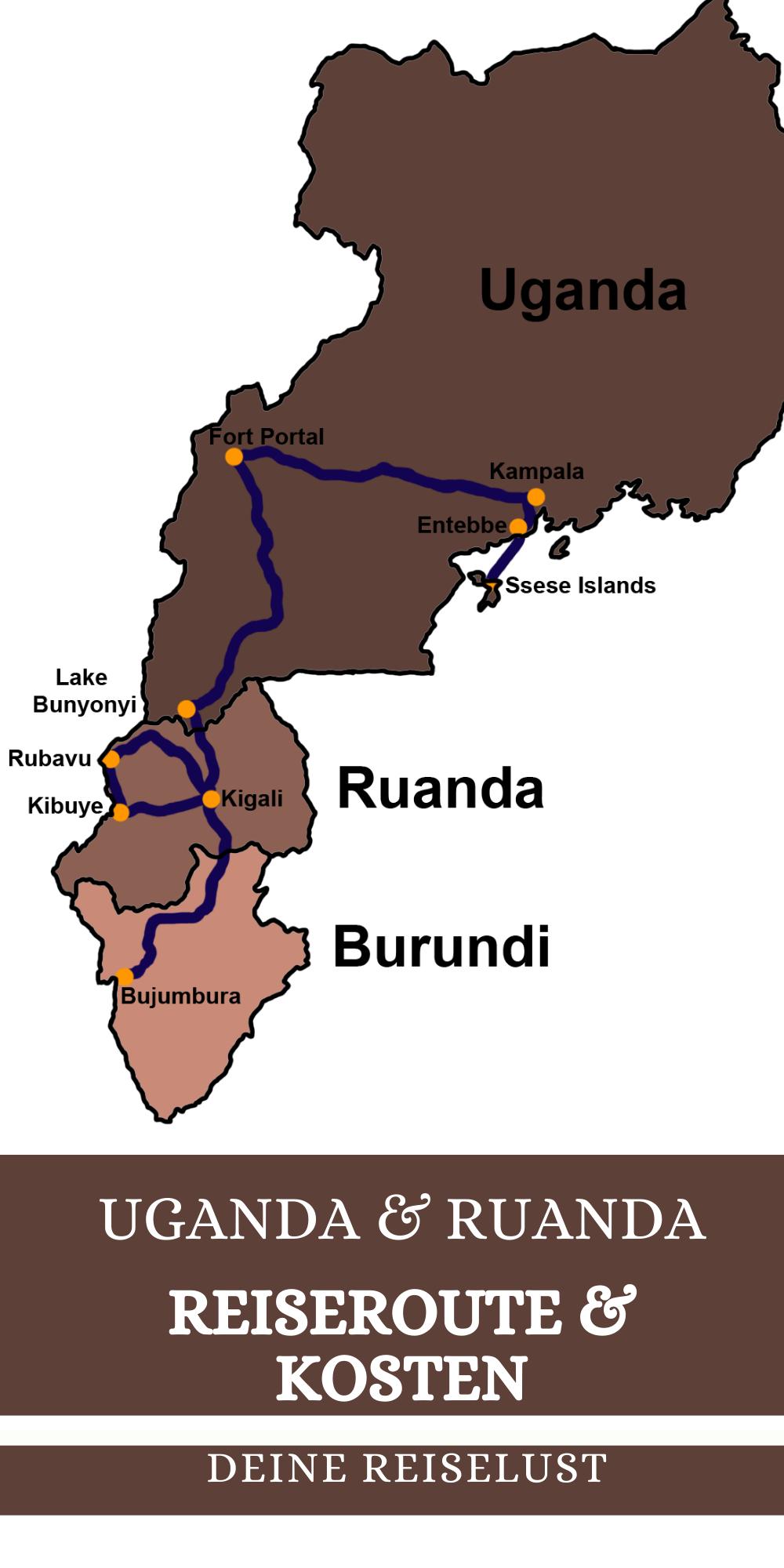 Uganda Ruanda Reiseroute Und Kosten In 2020 Reisen Rundreise Uganda