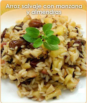 Arroz salvaje con manzana y almendras comida pinterest for Cocinar fideos de arroz
