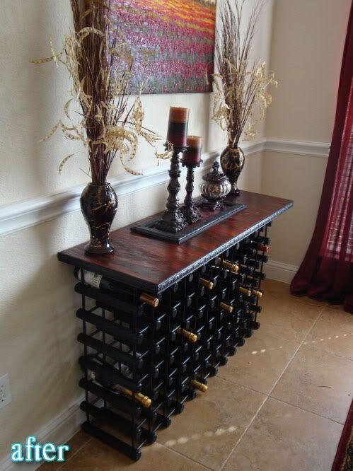 Wine Rack Buffet Table Diy Dream Home Pinterest Wine Rack