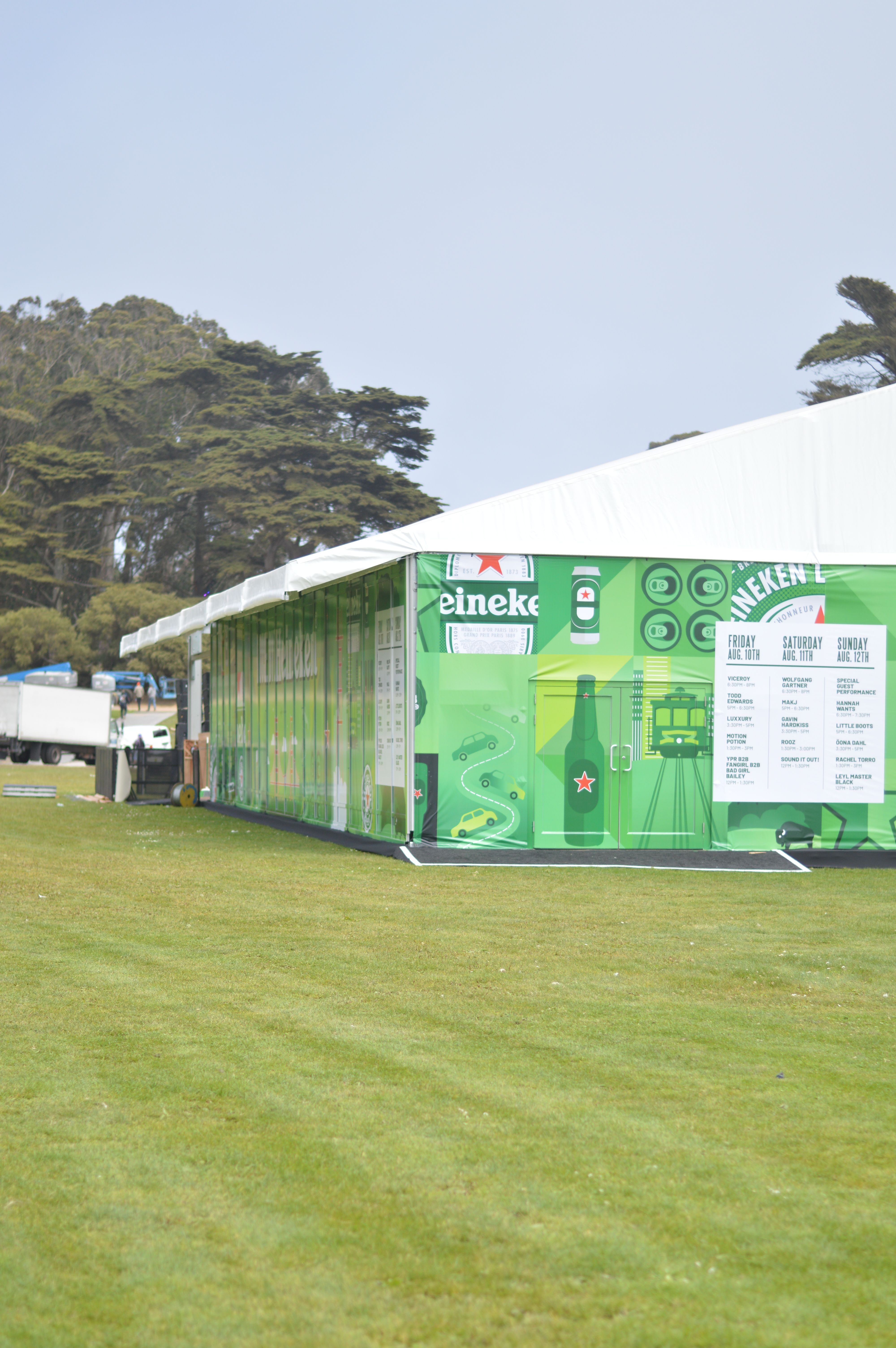 Abbey party rents sf arcum tent set up for heineken house