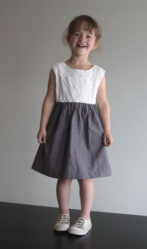 314593846691 all you need is a cute tee and some fabric to make this super easy gathered  skirt dress.
