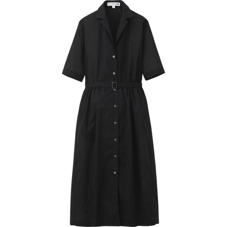 WOMEN IDLF COTTON LAWN DRESS - add a trench coat and silk scarf and you're audrey hepburn.